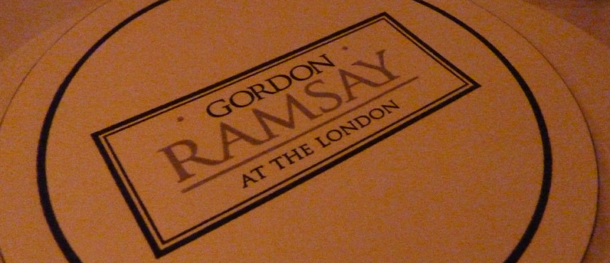 GORDON RAMSAY AT THE LONDON